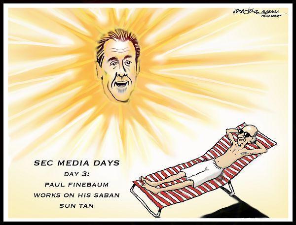 Cartoon by J.D. Crowe - SEC Media Days: Nick Saban & Paul Finebaum