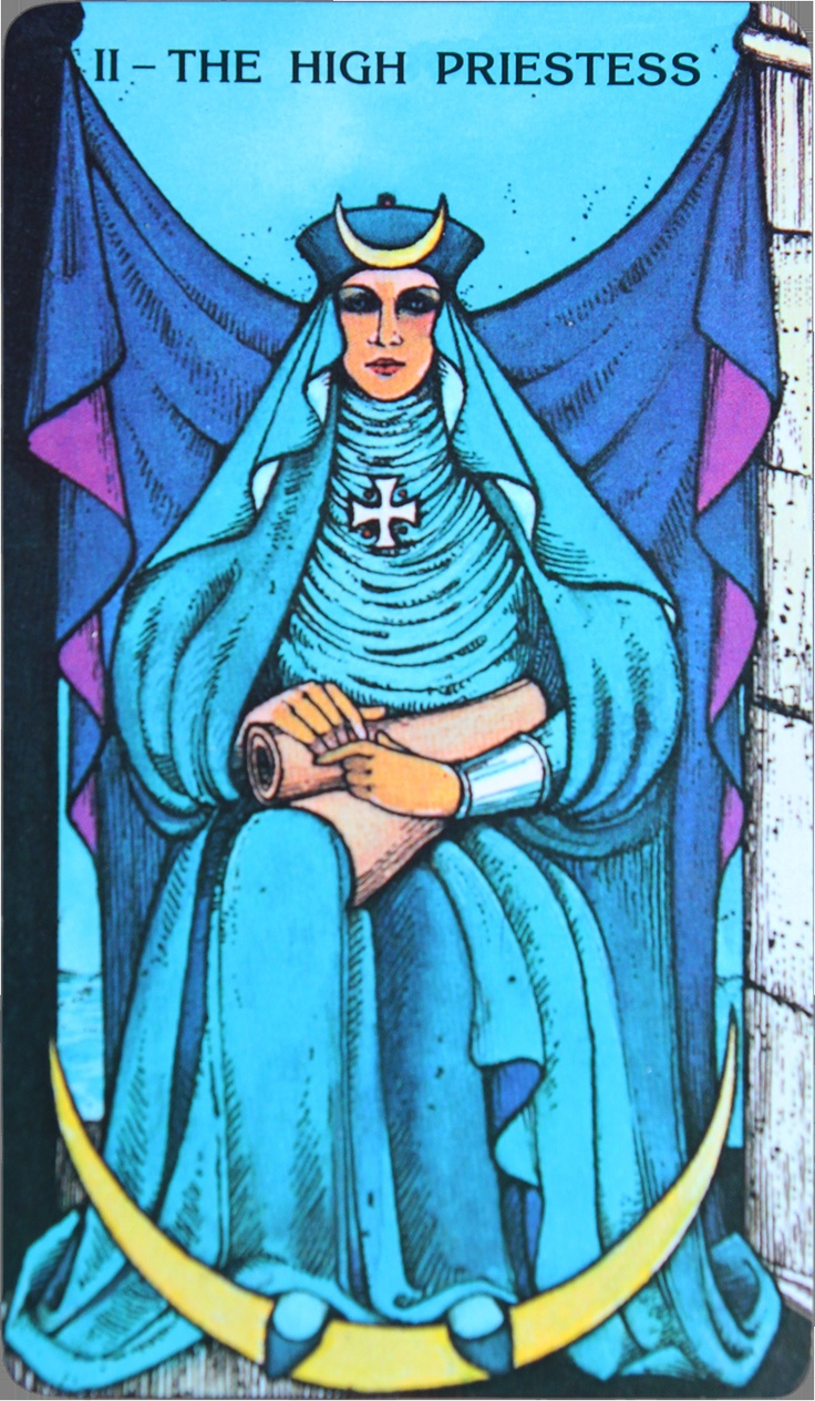 High Priestess Full Colorful Deck Major Stock Illustration: 17 Best Images About The High Priestess / The Popess