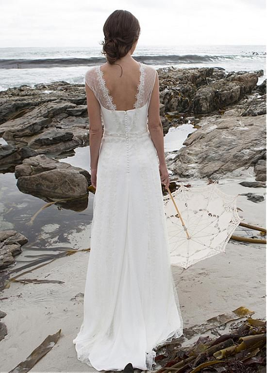 Elegent Dot Tulle Appliques A-Line Wedding Dress