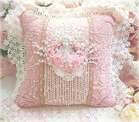 Hand Beaded Pillow