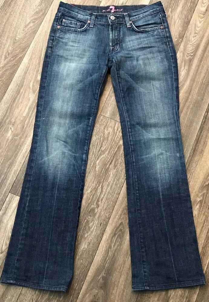 7 Seven For All Mankind Womens Jeans Size 28 Bootcut Medium Wash