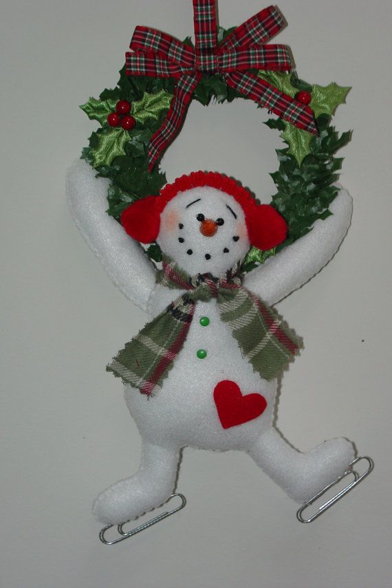 HAPPY HEARTS Hanging Snowman by simplysweetgifts on Etsy, $9.99