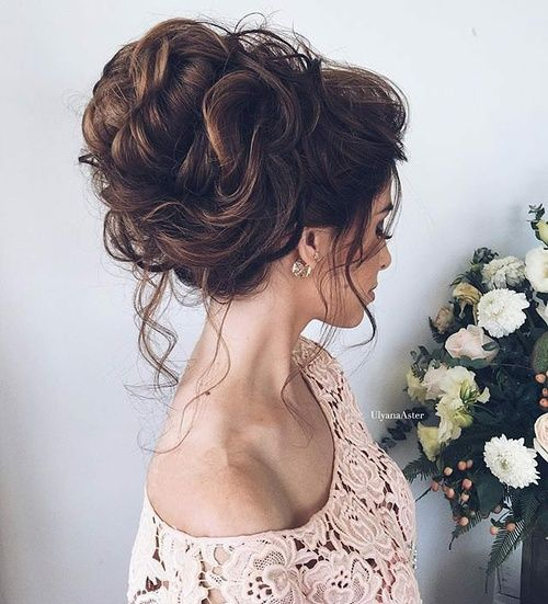 Bridal Hairstyles For Long Hair With Flowers : Best 25 high bun wedding ideas on pinterest updo