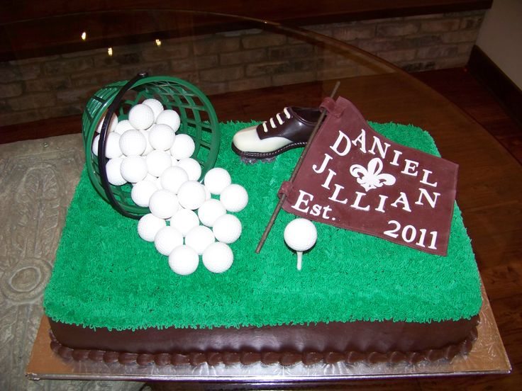 golf themed groom's cakes | Golf theme grooms ckae