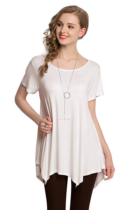 168a5a532 LARACE Loose Fit Comfy Flattering womens summer tunic tops / Cute summer  blouses / Chic Fashion for Women #tunic #tops #summertops #chicfashion