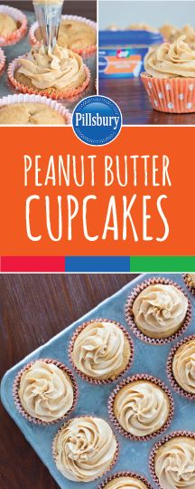 Sometimes you're looking for a simple—yet tasty—dessert recipe, and these Peanut Butter Cupcakes are sure to fit the bill! From the light and fluffy cake to the new Pillsbury™ Jif® Peanut Butter Frosting, this sweet treat is perfect for any occasion or celebration you have coming up! Head over to your local Kroger to grab all the ingredients you need to whip up these baked goods for your family. Then all that's left is to watch the smiles appear!