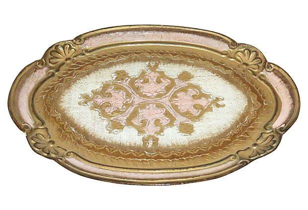 Pink Florentine Tray