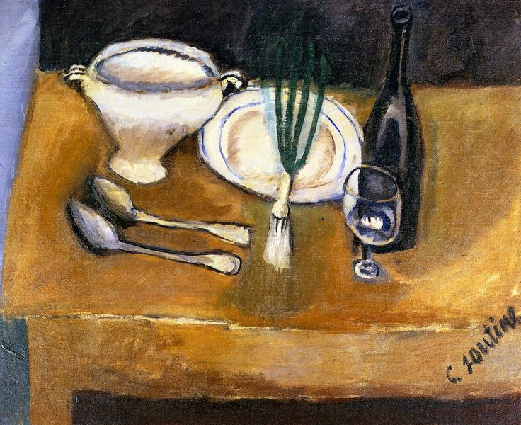 chaïm soutine(1894-1943), still life with soup tureen, c. 1916. oil on canvas, 61 x 73.7 cm. private collection http://www.the-athenaeum.org/art/full.php?ID=56400