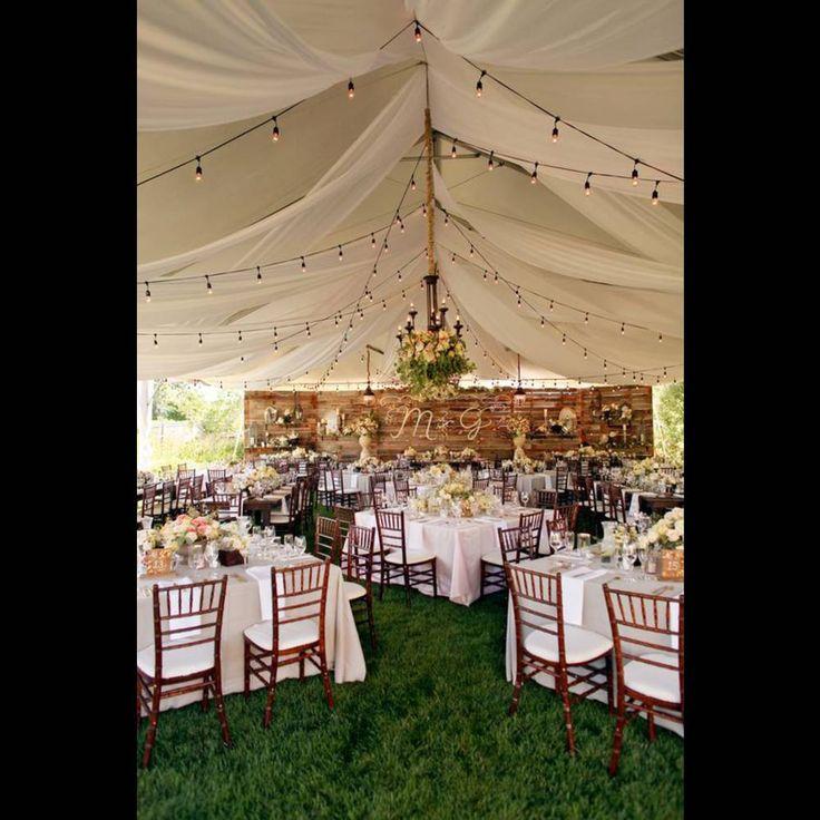 Mariage champêtre sous une tente  exterieur  Pinterest  Mariage