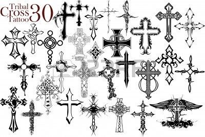 Tattoos Cross on Tribal Cross Tattoo Design Royalty Free Cliparts  Vectors  And Stock
