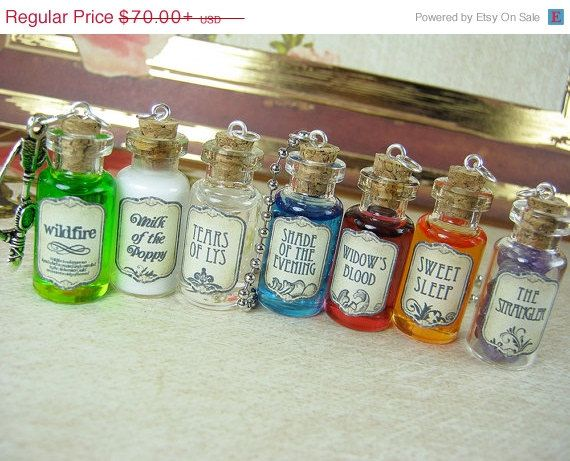 CIJ SALE GAME Of Thrones 2ml Glass Vial Necklace by RedQueenMisc, $59.50