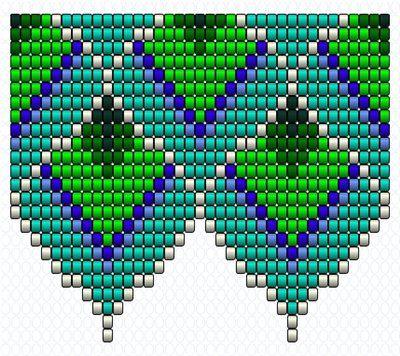 Схемы колье -павлиньи перья... | biser.info - всё о бисере и бисерном творчестве