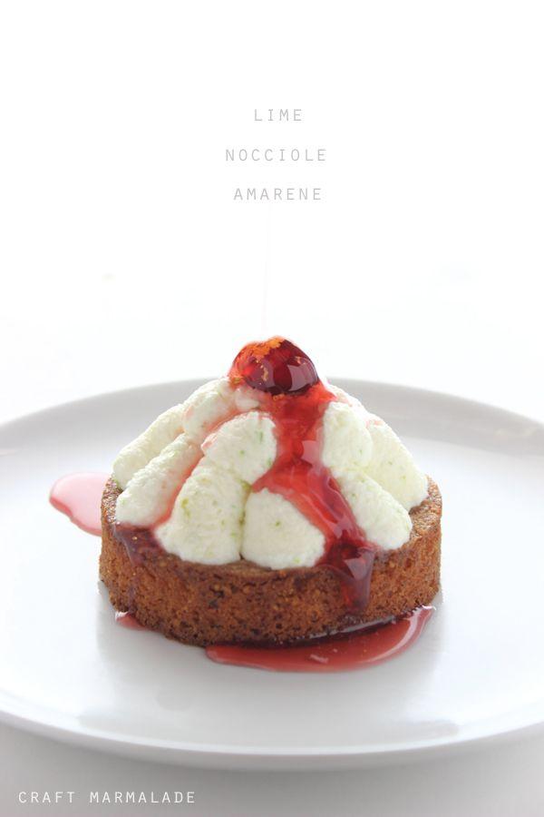 """""""Dessert al lime, nocciole e amarene"""", la ricetta di Silvia del blog """"Craft Marmalade"""" http://craftmarmalade.blogspot.it/2014/07/dessert-al-lime-nocciole-e-amarene.html"""
