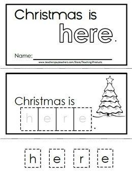 INTERACTIVE SIGHT WORD READER - CHRISTMAS IS HERE - TeachersPayTeachers.com