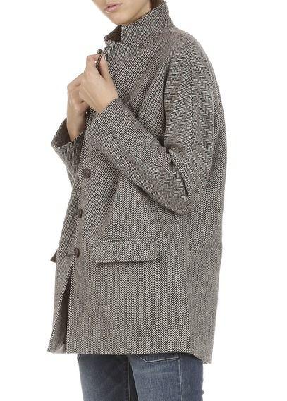 Manteau en laine à chevrons Marron by DENIM AND SUPPLY BY RALPH LAUREN