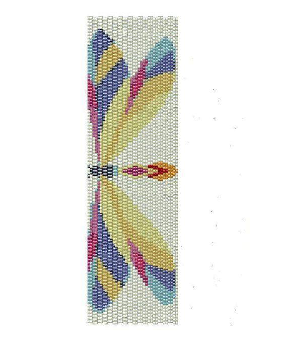 Dragonfly Peyote Pattern - peyote cuff pattern (Buy 2 patterns, Get 1 Free) via Etsy
