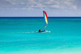 Blue, Barco, Caribe, Catamarã, Colorido