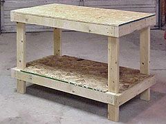 Workshop Essentials: A Cheap And Sturdy Workbench For About $20. Simple 2x4 And OSB Construction Makes This Work Bench An Easy DIY Project:
