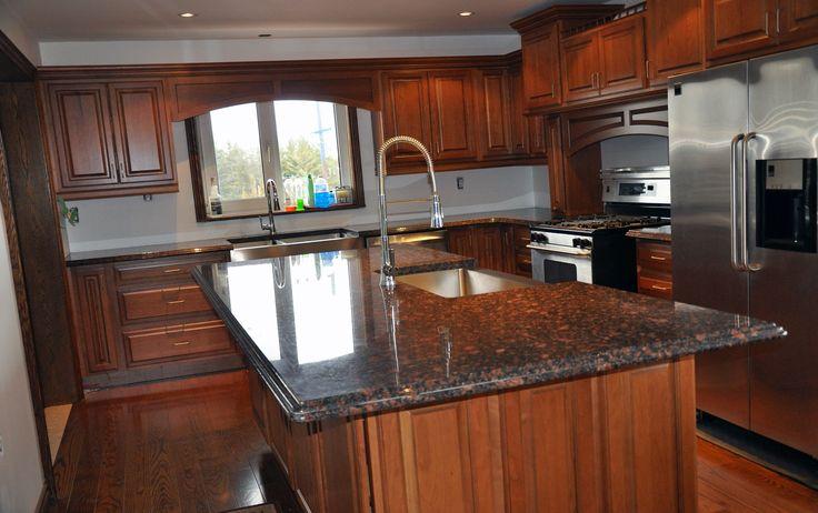 Coffee Brown Granite Kitchen Countertops