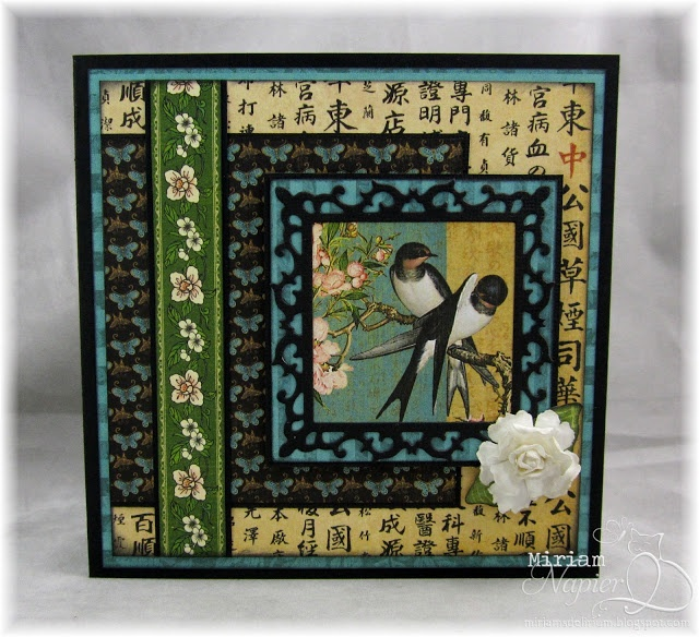 Made with Graphic 45 Bird Song paper.  5.5 square.************USE ON BOOKS MADE OUT OF DIFF. SIZES OF PGS. ALL CUT DIFFERENTLY