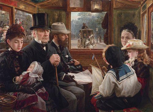 Alfred Morgan - az omnibusz Ride a Piccadilly (Mr Gladstone Utazás Rendes utasok) [1885]