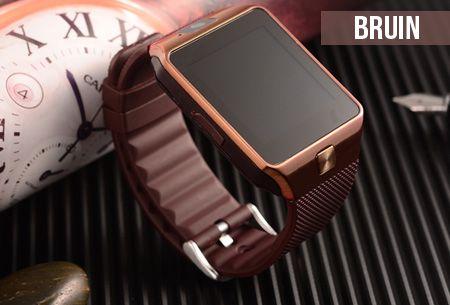 Bluetooth smartwatch met camera en micro SIM kaart functie nu €39,95 | Gebruik je horloge als telefoon! #bluetooth #smartwatch