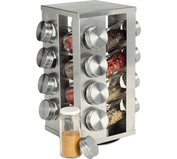Buy HOME 16 Jar Stainless Steel Revolving Spice Rack at Argos.co.uk, visit Argos.co.uk to shop online for Spice racks and seasoning, Kitchenware, Cooking, dining and kitchen equipment, Home and garden