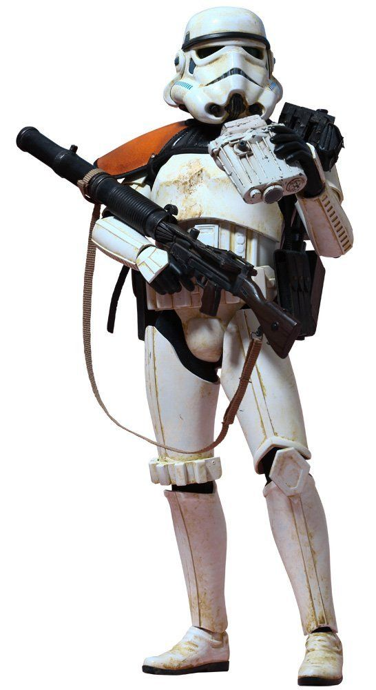 "Hot Toys 1:6 Scale ""Star Wars A New Hope Sand Trooper"" Figure (White): Amazon.co.uk: Toys & Games"