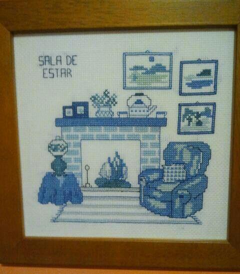 Mi hermana Cristina hizo esta preciosidad para nuestro cuarto de estar.