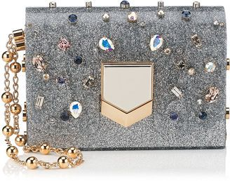 Shop Now - >  https://api.shopstyle.com/action/apiVisitRetailer?id=544793153&pid=uid6996-25233114-59 LOCKETT MINAUDIERE Silver Glitter Acrylic Clutch Bag with Multi Coloured Crystals  ...