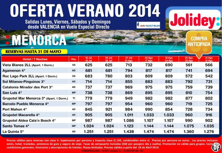 Oferta Verano 2014 Menorca, Salidas L, V, S, D desde Valencia Cía. Air Nostrum desde 542€ ultimo minuto - http://zocotours.com/oferta-verano-2014-menorca-salidas-l-v-s-d-desde-valencia-cia-air-nostrum-desde-542e-ultimo-minuto/