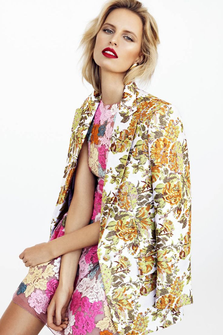 Karolina Kurkova Stars in Elle Czech by Branislav Simoncik | Fashion Gone Rogue: The Latest in Editorials and Campaigns Floral