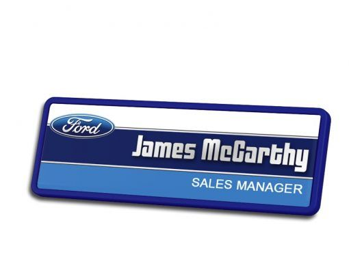 Ford Sales Manager Name Badges
