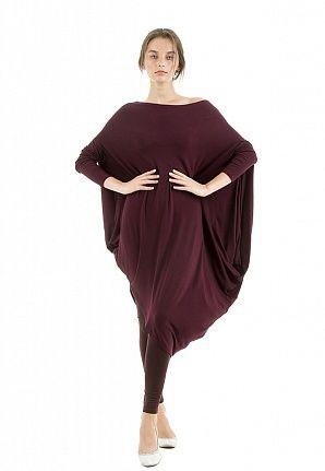 Платье Asymmetric lounge вишневое