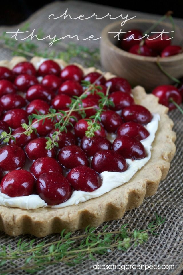 Stone fruit and herbs are a match made in dessert heaven. In this Cherry Thyme Tart recipe, fresh cherries pair with a thyme-infused syrup.