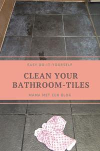 Tip: Donkere badkamertegels met witte aanslag reinigen https://mamameteenblog.nl/witte-aanslag-badkamertegels-verwijderen/ Bathroomtiles | housecleaning | householdtips | supertip