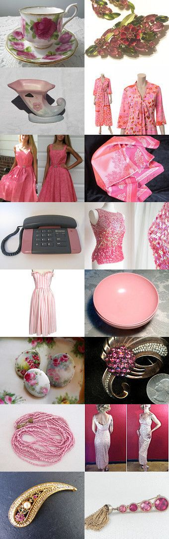 Pink Passion  Vintage Explosion by Vanessa on Etsy--Pinned+with+TreasuryPin.com