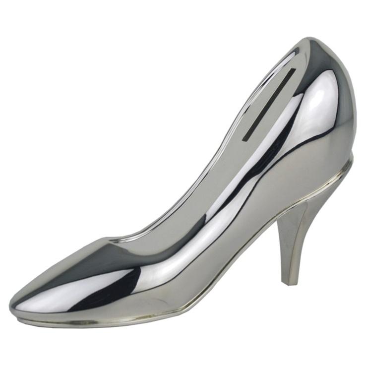 National Engravers - Shoe Money Box Silver Plated(http://www.national-engravers.co.uk/products/shoe-money-box-silver-plated-15cm-high.html)