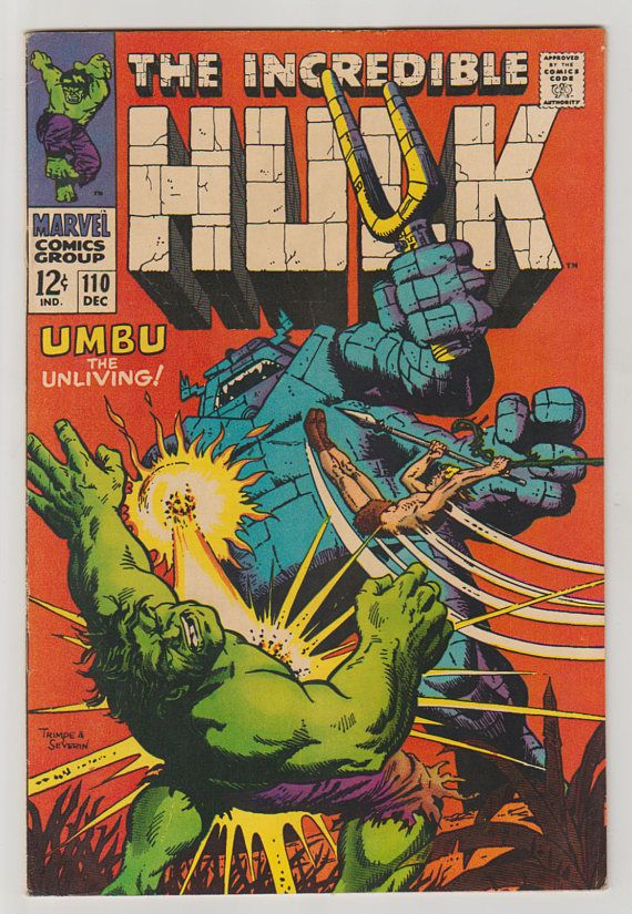 Incredible Hulk Vol 1 110 Silver Age Comic Book. FN.