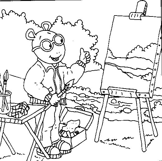 coloring pages for arthur - photo #34
