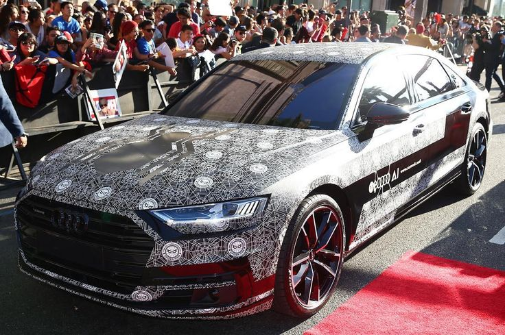 #newA8: #Spiderman already drove it -- The new Audi A8 at #SpidermanHomecoming premiere in Los Angeles on Wed. photo Audi ---- oooo #audidriven - what else ---- #AudiS8plus #S8 #AudiA8 #A8 #quattro #4rings #drivenbyvorsprung #landofquattro #spiderweb #audigramm #audigram #audilove #audirussia #Россия #ауди #audicity #moscow