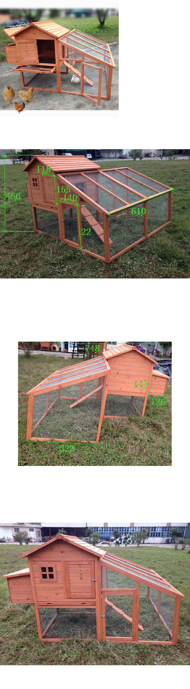 Backyard Poultry Supplies 177801: 74 Wooden Chicken Coop Rabbit Hutch Pet Cage Backyard Animal Poultry Nest Cage -> BUY IT NOW ONLY: $227.95 on eBay!
