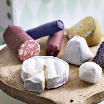 Coudre de la fausse nourriture en tissu / Cloth cheese et pork products