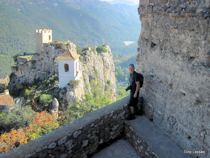 My husband at the top of the castle in Guadalest, Spain. TONE LEPSOES PICTURES.
