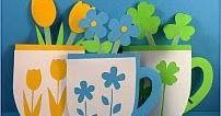 Lindas tarjetas para hacer y regalar a mamá en su día (recopiladas de la web)  Tarjetas de tazas