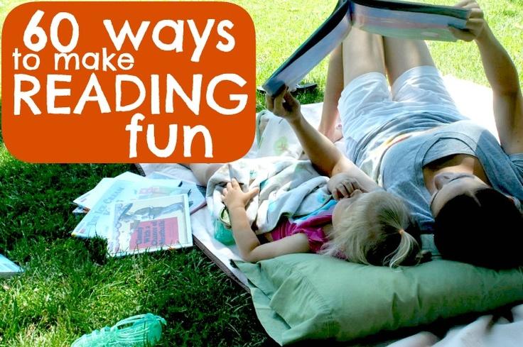 60 Ways to Make {Reading} Fun from The Iowa Farmer's Wife: Kids Summer, Homeschool Ideas, Iowa Farmers, Reading Ideas, Summer Reading, Reading Fun, Reading Books, The Readers, Farmers Wife