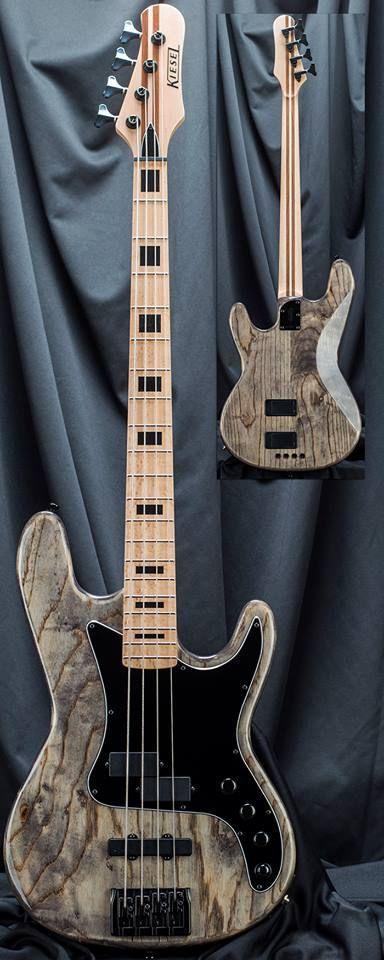 Kiesel Guitars Carvin Guitars Bass players! This PB4 in Antique Ash #bassguitar