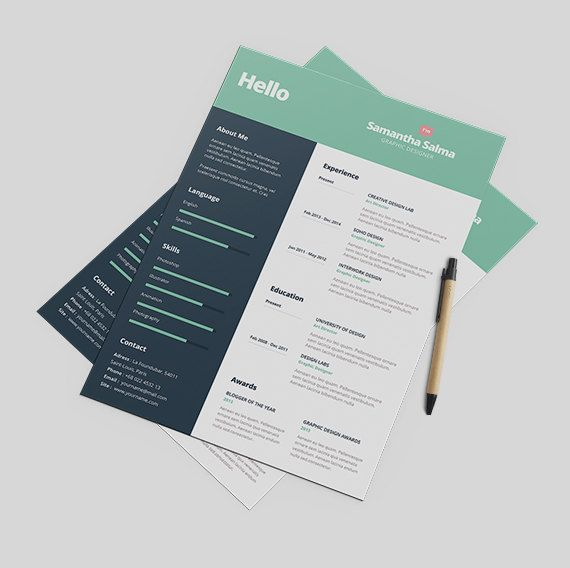 Creative Resume Template Instant Download  Cover by papernoon