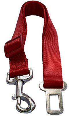 Red Pet Dog Adjustable Car Automotive Seat Safety Belt Vehicle Seatbelt leash lead Travel For Small / Medium / Large Dogs,Cats