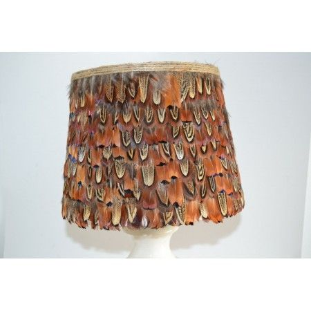 Large cock pheasant feather lampshade - £55